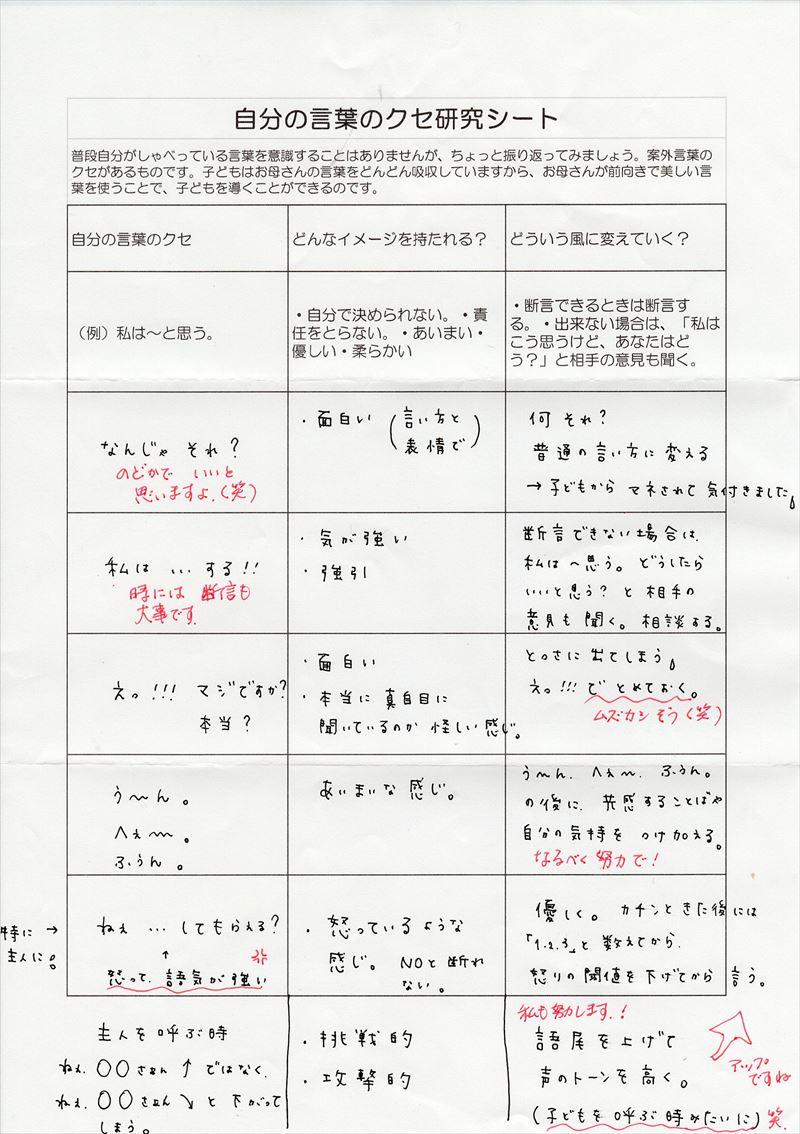 自分の言葉のクセ研究シート01
