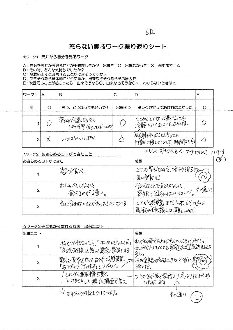 怒らない裏技ワーク32