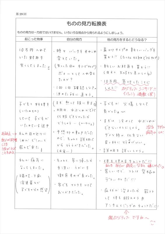 ものの見方転換表 実例集01
