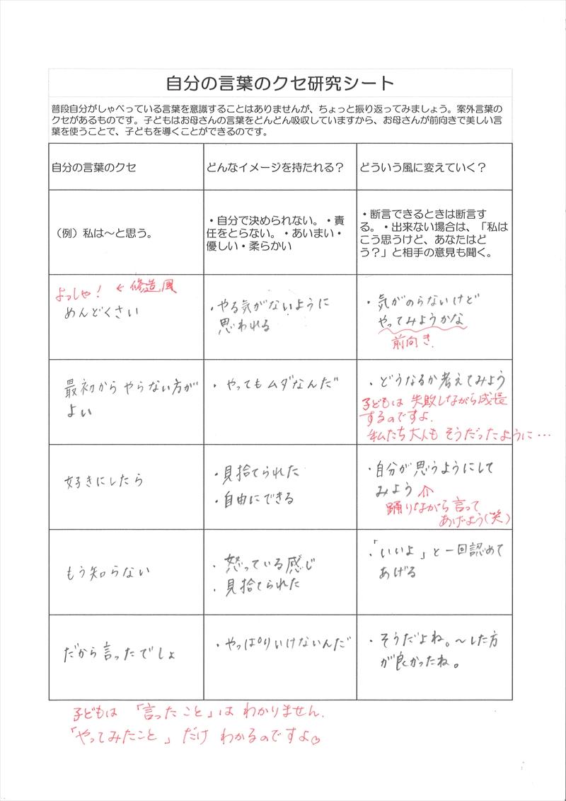 自分の言葉のクセ研究シート06