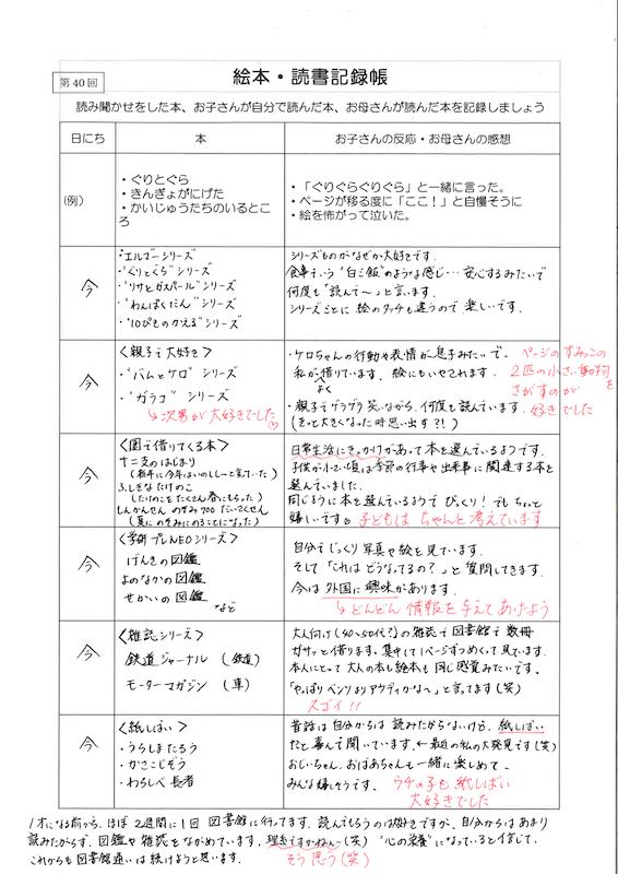 絵本・読書記録帳 実例集05