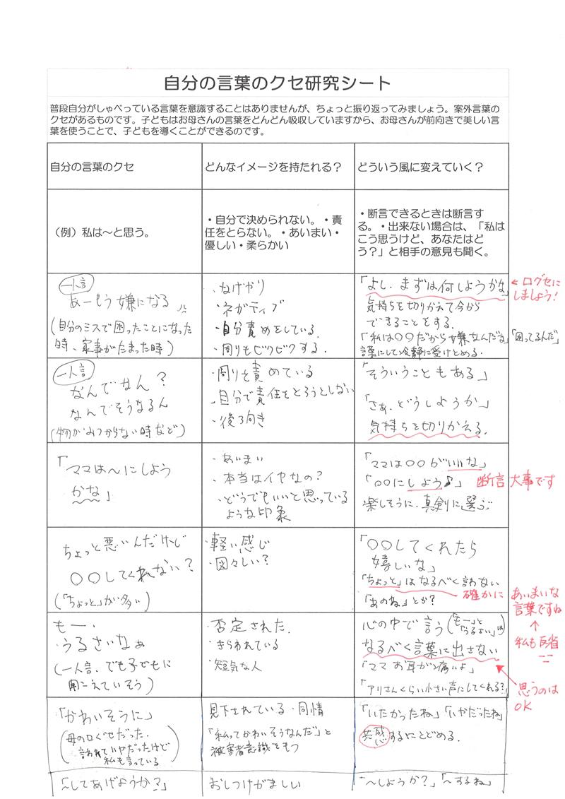 自分の言葉のクセ研究シート11