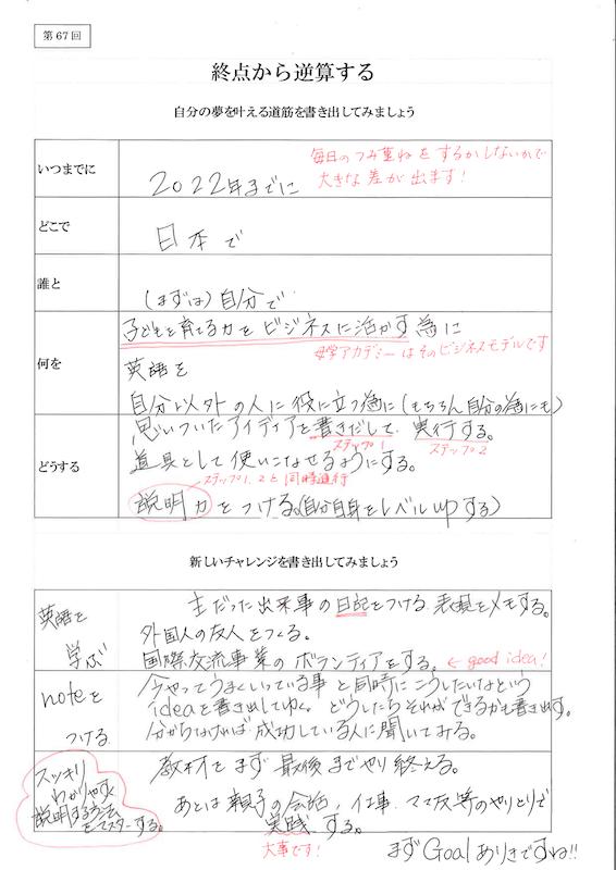 終点から逆算する実例集01